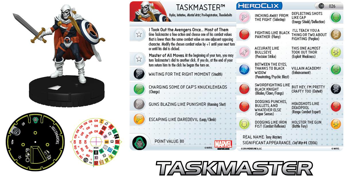 Marvel HeroClix: Civil War Storyline OP - Taskmaster