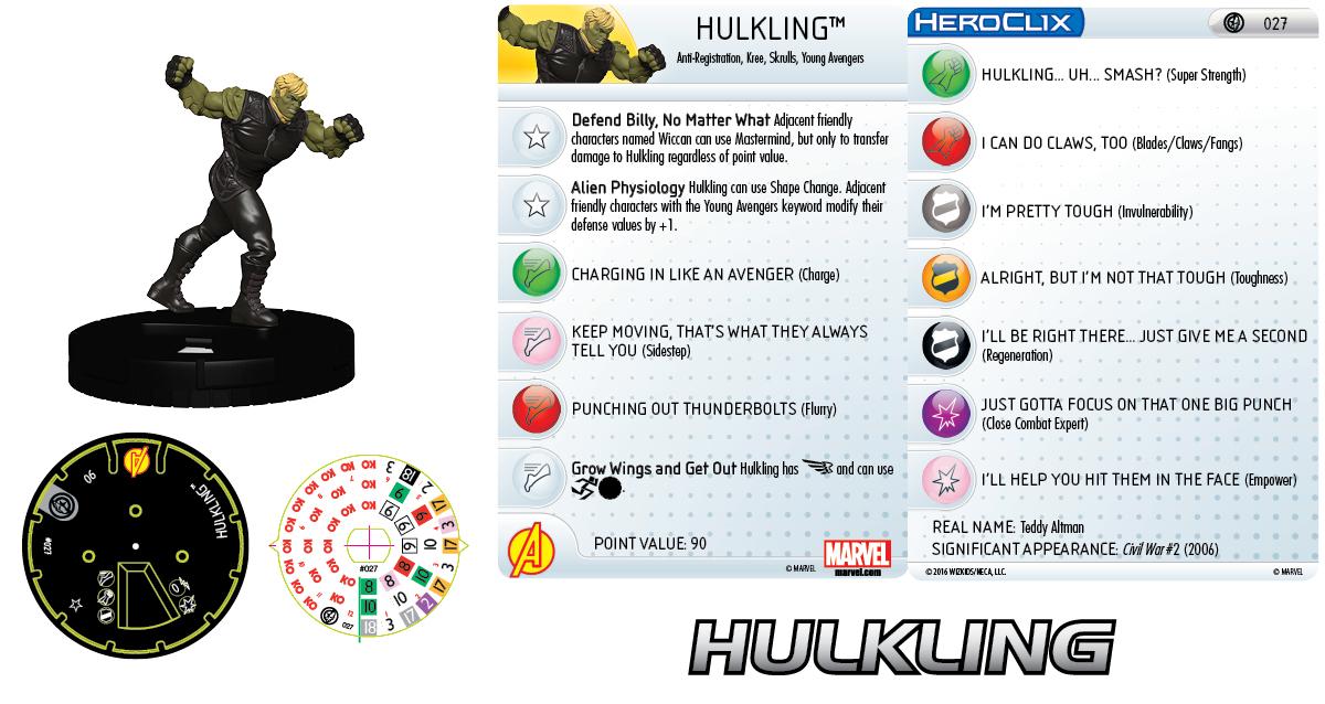 Marvel HeroClix: Civil War Storyline OP - Young Avengers - Hulkling