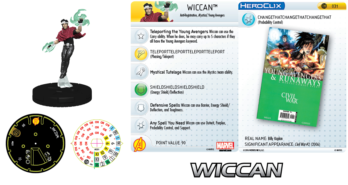 Marvel HeroClix: Civil War Storyline OP - Young Avengers - Wiccan