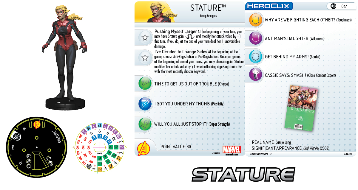Marvel HeroClix: Civil War Storyline OP - Young Avengers - Stature