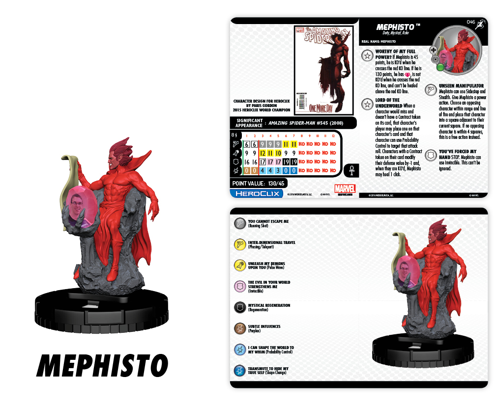 Marvel HeroClix: Superior Foes of Spider-Man - Mephisto Champion Figure
