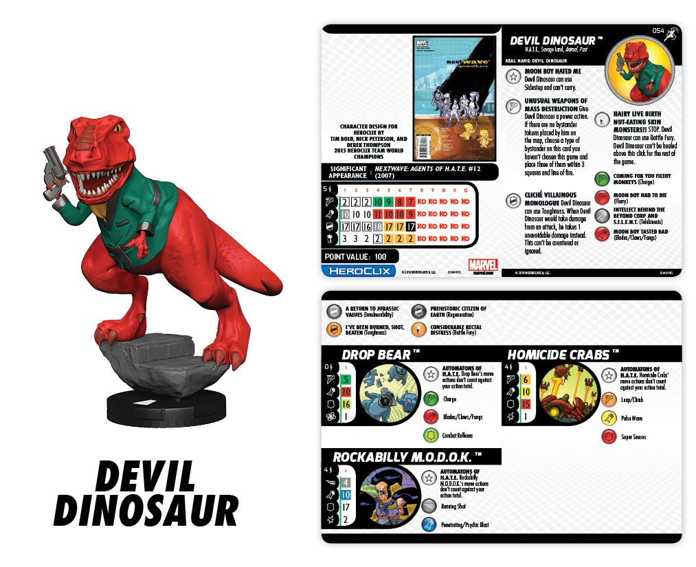 Marvel HeroClix: Superior Foes of Spider-Man - Devil Dinosaur Champion Figure