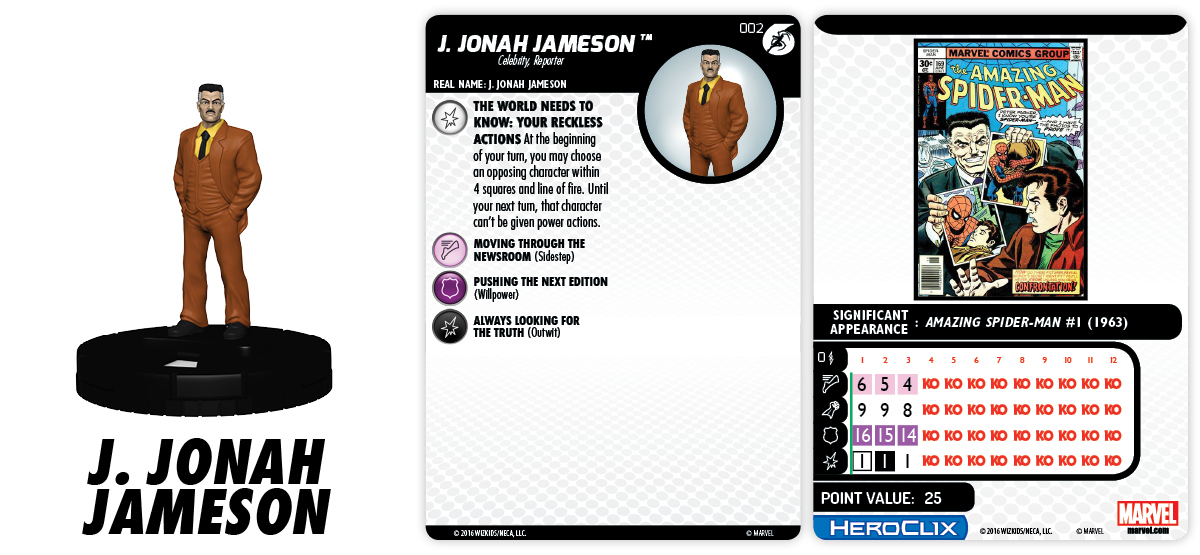 Marvel HeroClix: Superior Foes of Spider-Man - J Jonah Jameson