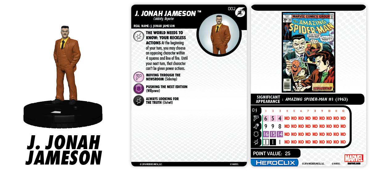 Marvel HeroClix: Superior Foes of Spider-Man - J Jonah Jameson