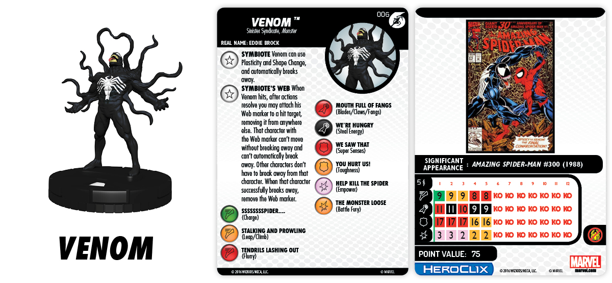Marvel HeroClix: Spider-Man and His Greatest Foes Fast Forces Pack - Venom
