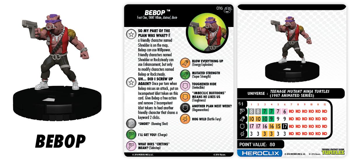 TMNT HeroClix: Heroes in a Half Shell - Bebop