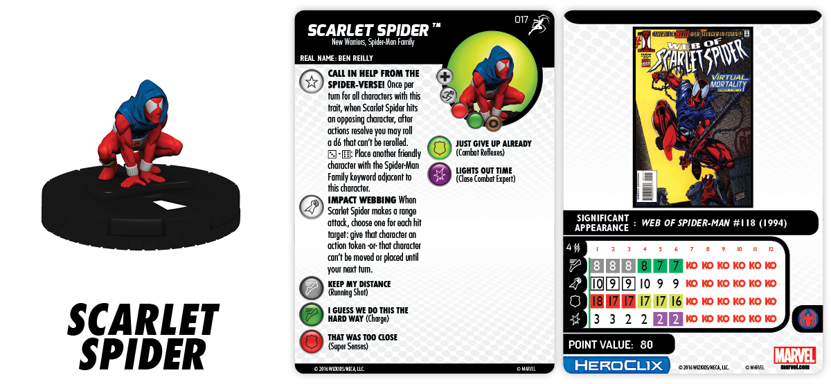 Marvel HeroClix: Superior Foes of Spider-Man - Spider-Man Family Team - Scarlet Spider 017