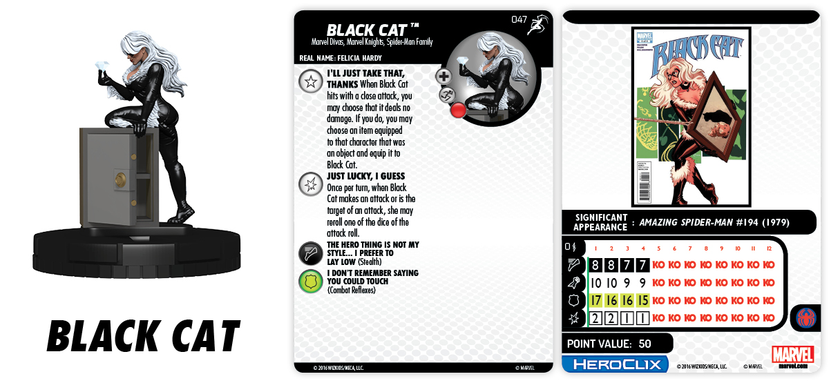 Marvel HeroClix: Superior Foes of Spider-Man - Spider-Man Family Team - Black Cat 047