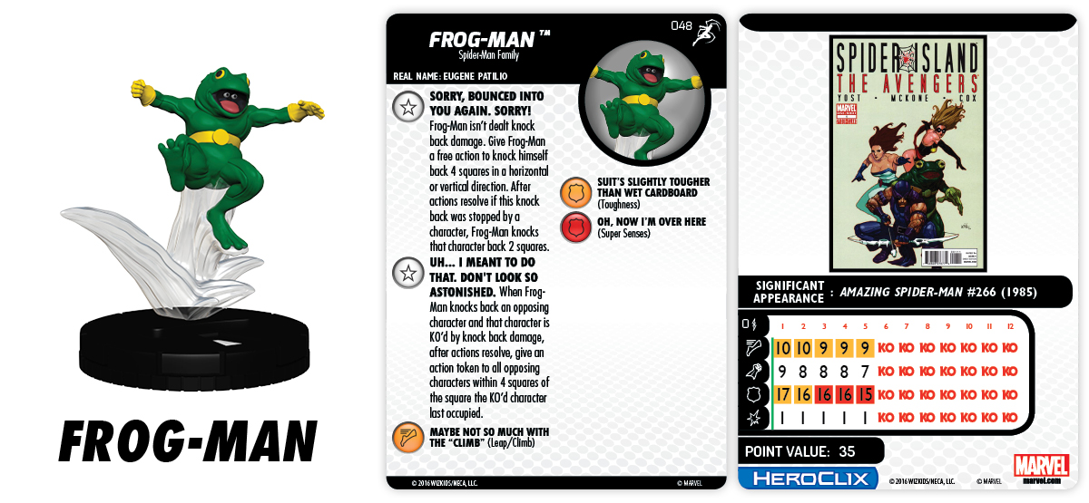 Marvel HeroClix: Superior Foes of Spider-Man - Frog-Man