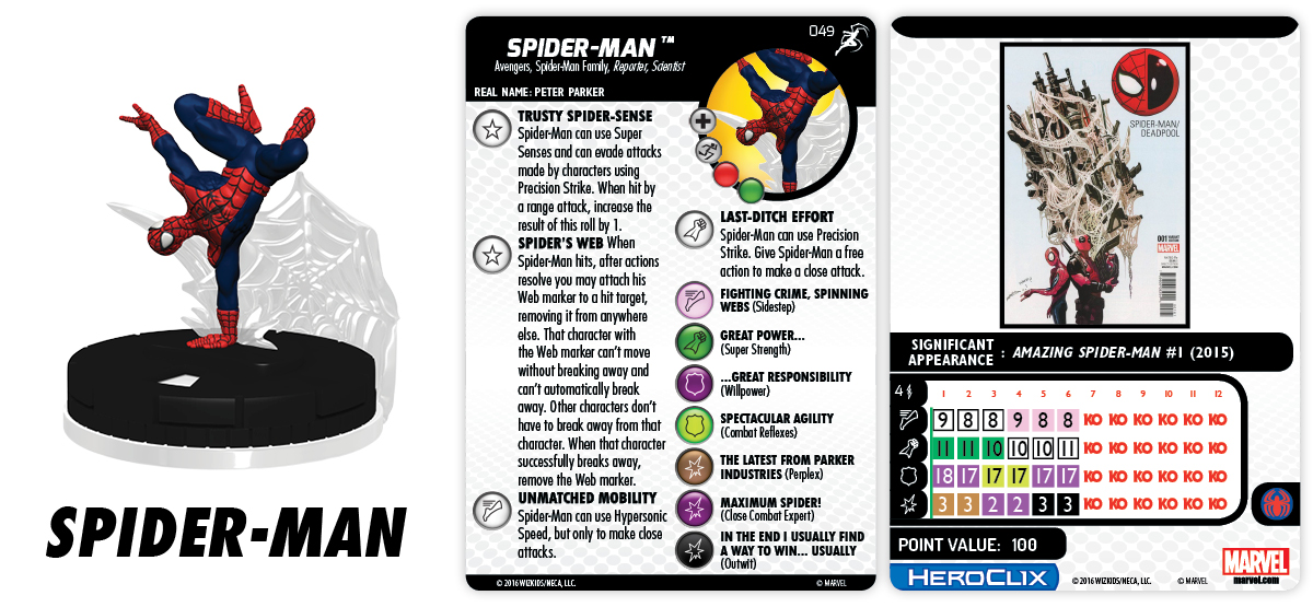 Marvel HeroClix: Superior Foes of Spider-Man - Spider-Man Family - Spider-Man 049