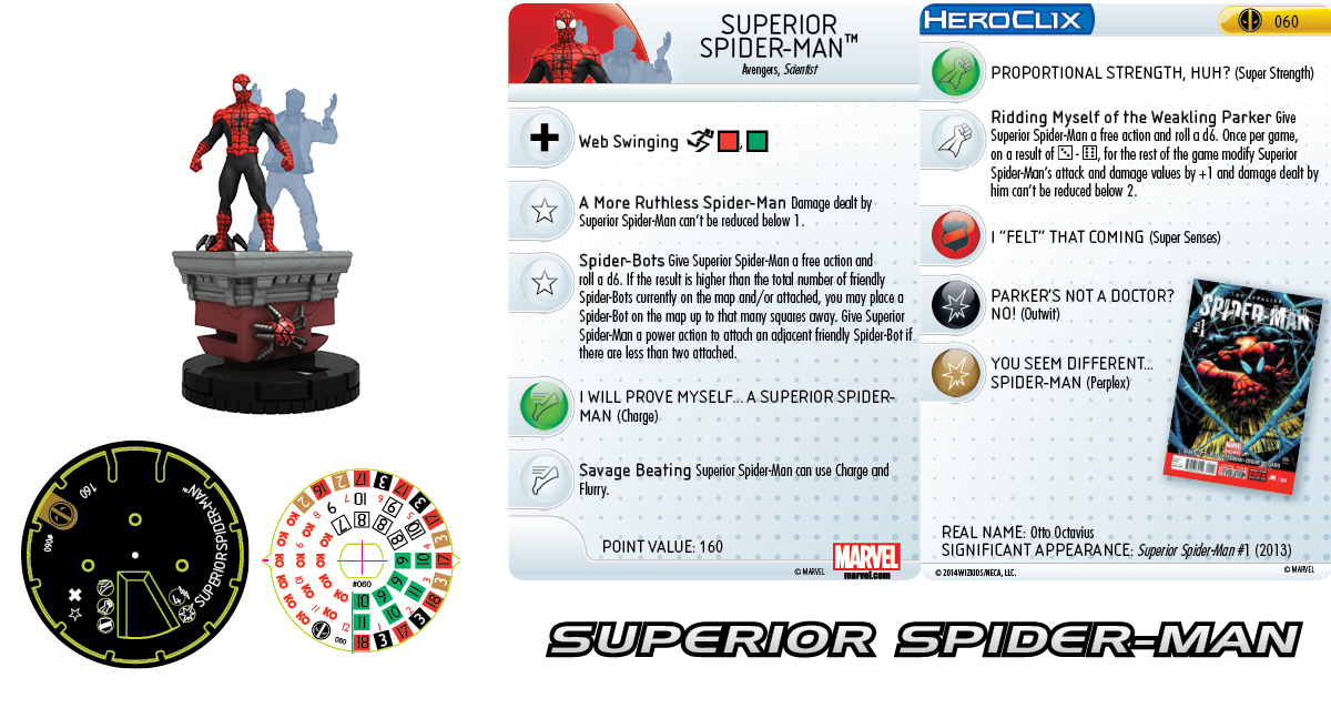 Clix It Up- Marvel HeroClix: Deadpool - Superior Spider-Man 060