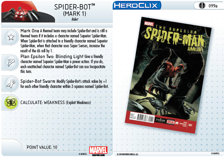 Clix It Up- Marvel HeroClix: Deadpool - Spider-Bot 099a