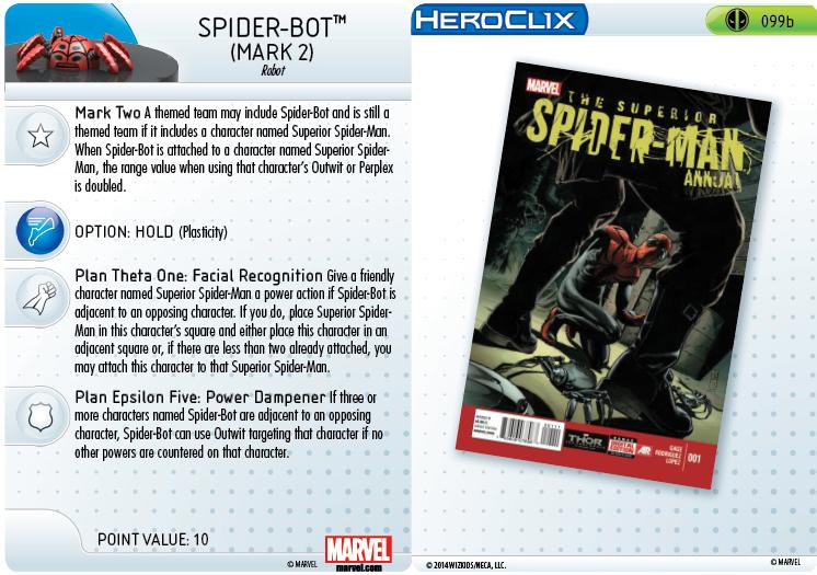 Clix It Up- Marvel HeroClix: Deadpool - Spider-Bot 099b