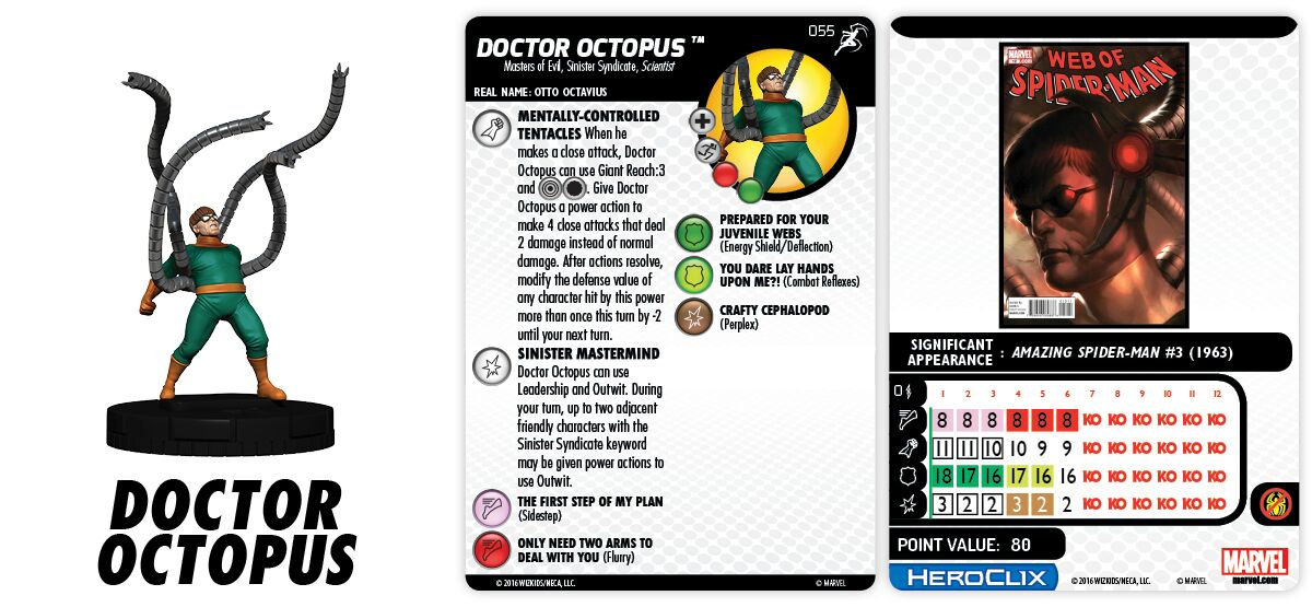Marvel HeroClix: Superior Foes of Spider-Man - Sinister Syndicate - Doctor Octopus