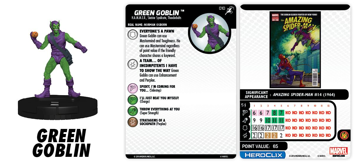 Marvel HeroClix: Superior Foes of Spider-Man - Sinister Syndicate - Green Goblin