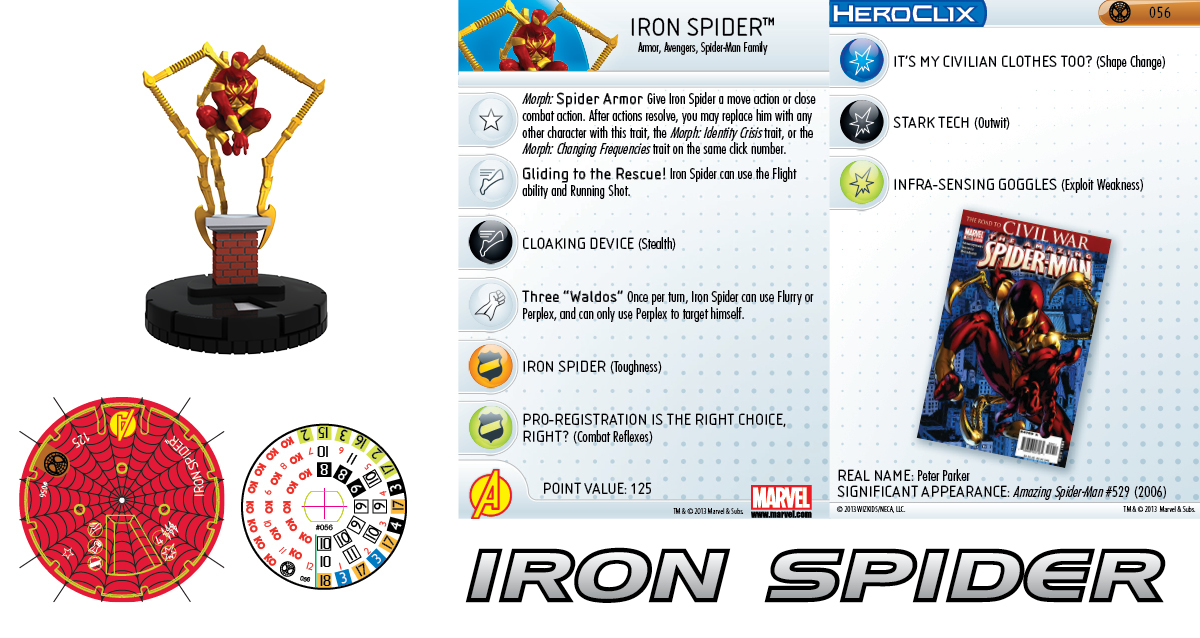 Clix It Up - Marvel HeroClix: Amazing Spider-Man - Iron Spider 056