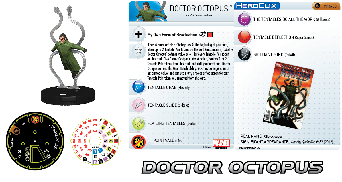 Clix it Up Marvel HeroClix: Sinister Syndicate Monthly OP Kit - Doctor Octopus