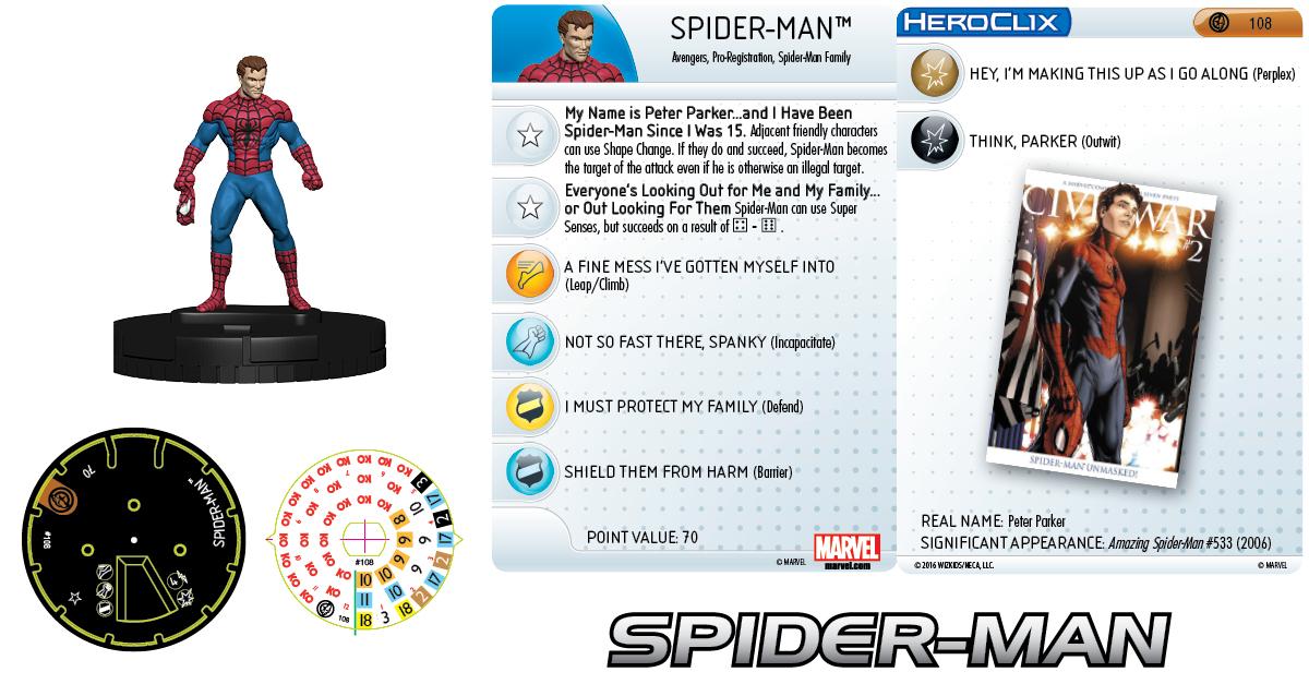 Marvel HeroClix: Civil War Storyline OP - Grand Prizes Spider-Man