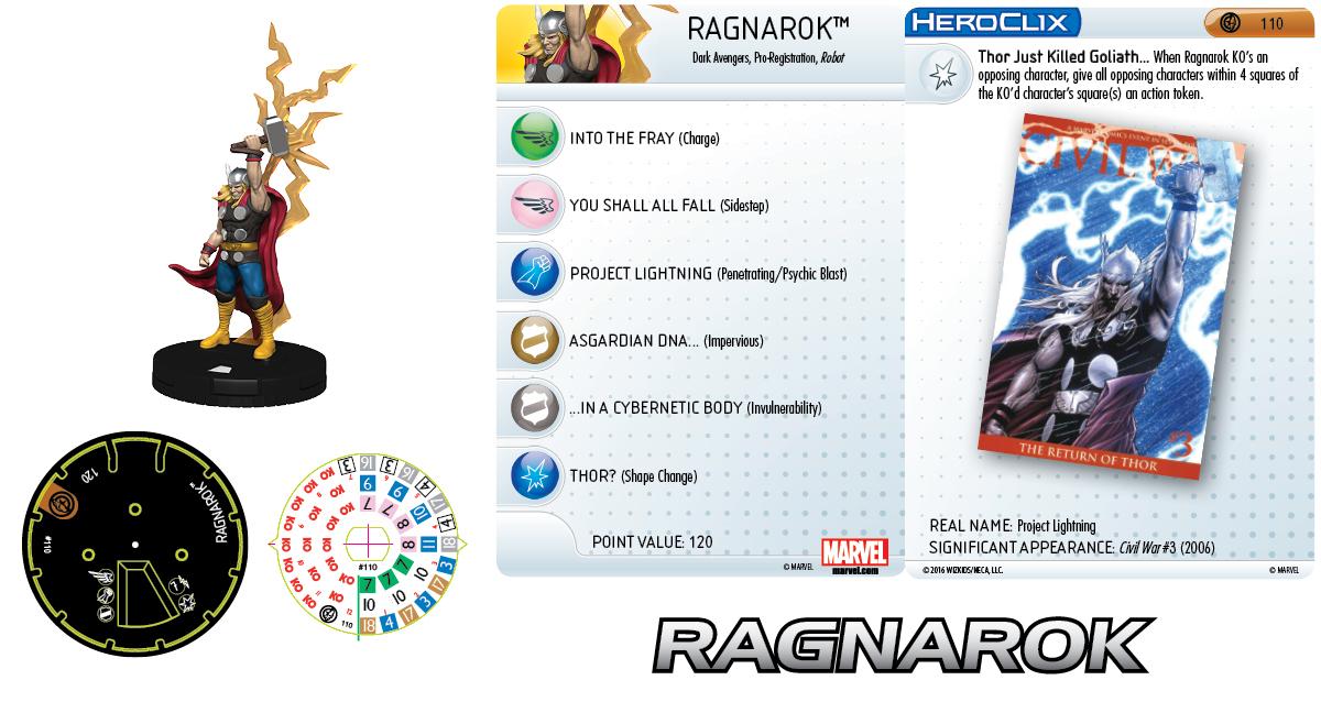 Marvel HeroClix: Civil War Storyline OP - Grand Prizes Ragnarok