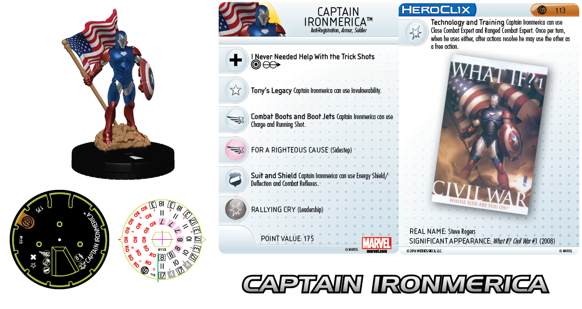 Marvel HeroClix: Civil War Storyline OP - Grand Prizes Captain Ironmerica