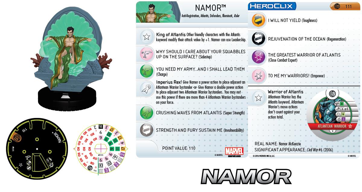 Marvel HeroClix: Civil War Storyline OP - Grand Prizes Namor