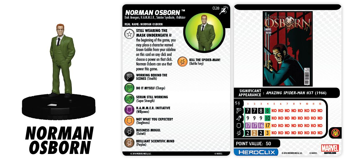 Marvel HeroClix: Superior Foes of Spider-Man - Sinister Syndicate - Norman Osborn