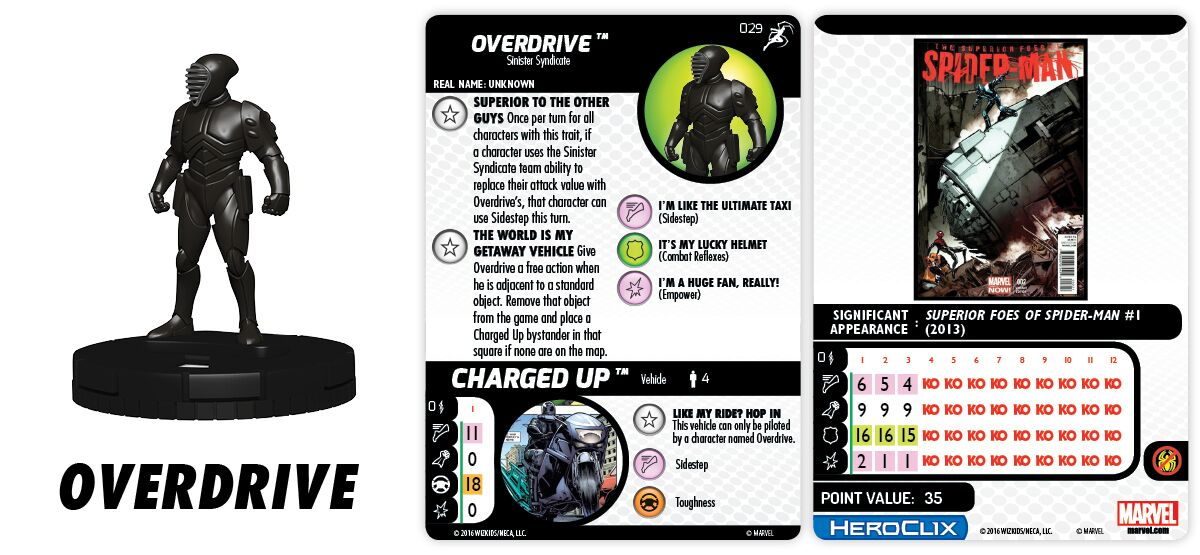 Marvel HeroClix: Superior Foes of Spider-Man - Sinister Syndicate - Overdrive