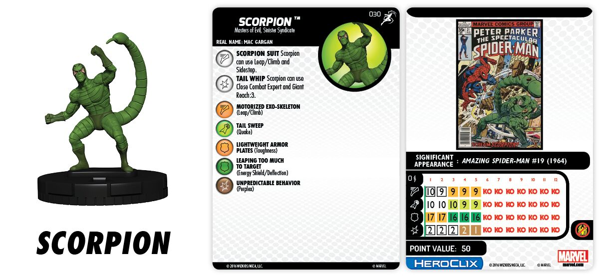 Marvel HeroClix: Superior Foes of Spider-Man - Sinister Syndicate - Scorpion