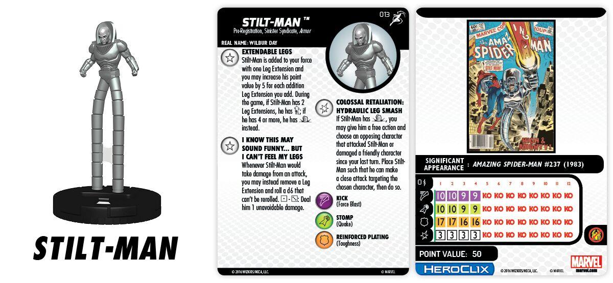 Marvel HeroClix: Superior Foes of Spider-Man - Sinister Syndicate - Stilt-Man