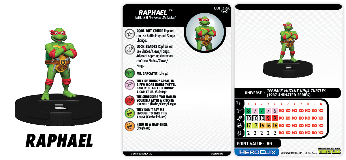 TMNT HeroClix: Heroes in a Half Shell - Teenage Mutant Ninja Turtles - Raphael