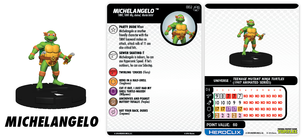 TMNT HeroClix: Heroes in a Half Shell - Teenage Mutant Ninja Turtles - Michelangelo