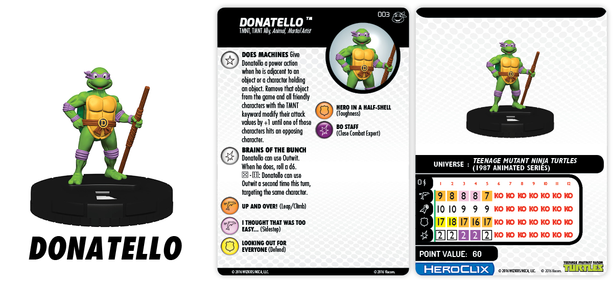 TMNT HeroClix: Heroes in a Half Shell - Teenage Mutant Ninja Turtles - Donatello