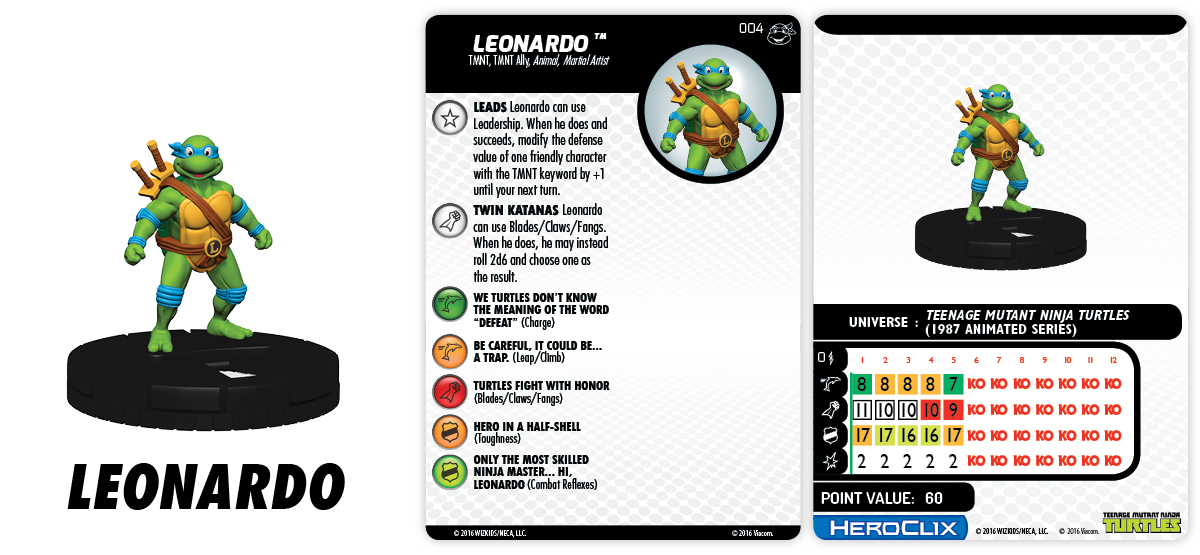 TMNT HeroClix: Heroes in a Half Shell - Teenage Mutant Ninja Turtles - Leonardo