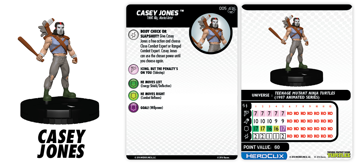 Teenage Mutant Ninja Turtles HeroClix: Heroes in a Half Shell - Casey Jones