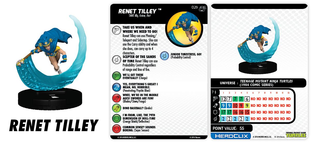 Teenage Mutant Ninja Turtles HeroClix: Heroes in a Half Shell - Renet Tilley