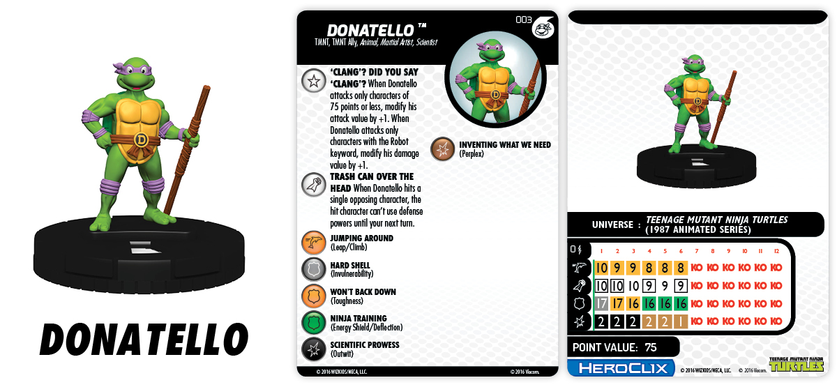TMNT HeroClix: Heroes in a Half Shell Fast Forces - Donatello