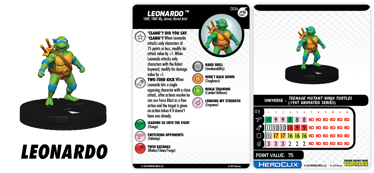 TMNT HeroClix: Heroes In A Half Shell Fast Forces - Leonardo
