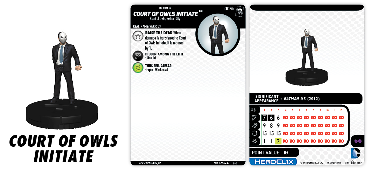 DC HeroClix: The Joker's Wild!- Court of Owls Initiate