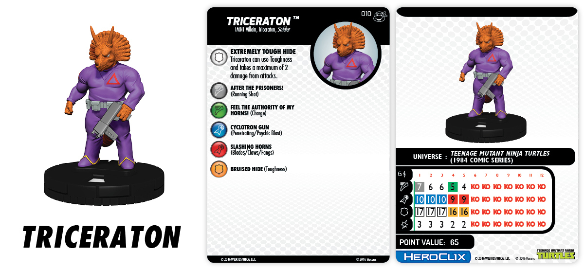TMNT HeroClix: Heroes in a Half Shell- Triceraton & Zog