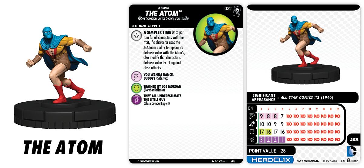 DC HeroClix: The Joker's Wild- The Atom JSA
