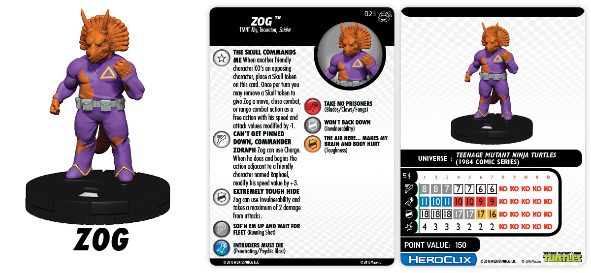 TMNT HeroClix: Heroes in a Half Shell- Zog
