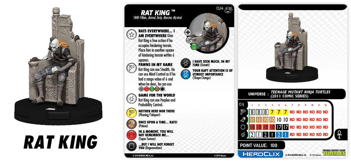TMNT HeroClix: Heroes in a Half Shell- Rat King