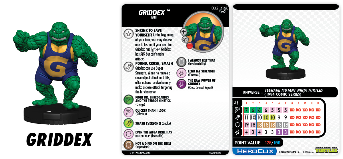 TMNT HeroClix: Heroes in a Half Shell Griddex Chase