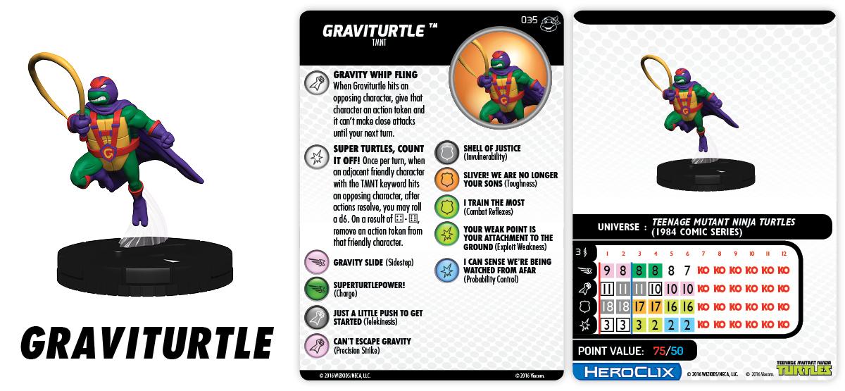 TMNT HeroClix: Heroes in a Half Shell- Graviturtle