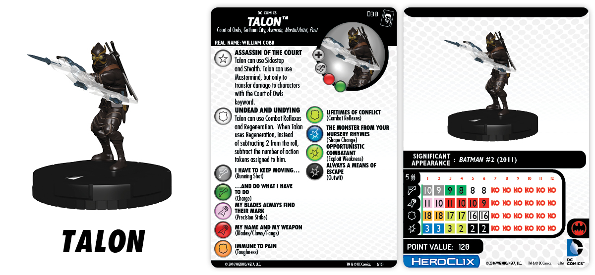 DC HeroClix: The Joker's Wild!- Court of Owls - Talon