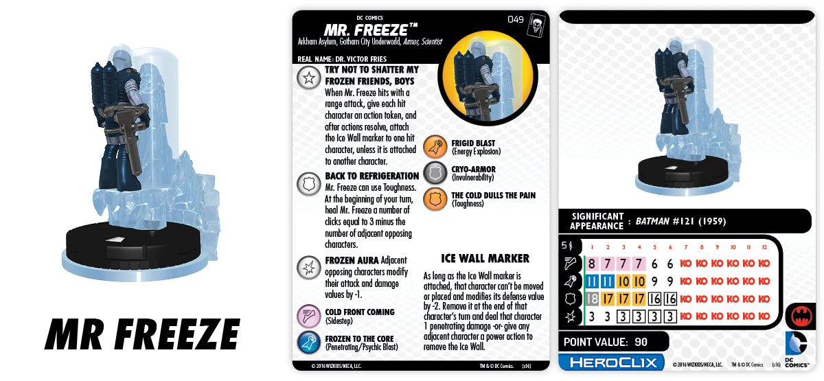 DC HeroClix: The Joker's Wild!- Mr. Freeze