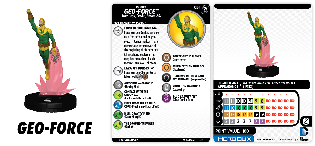 DC HeroClix: The Joker's Wild!- Geo-Force