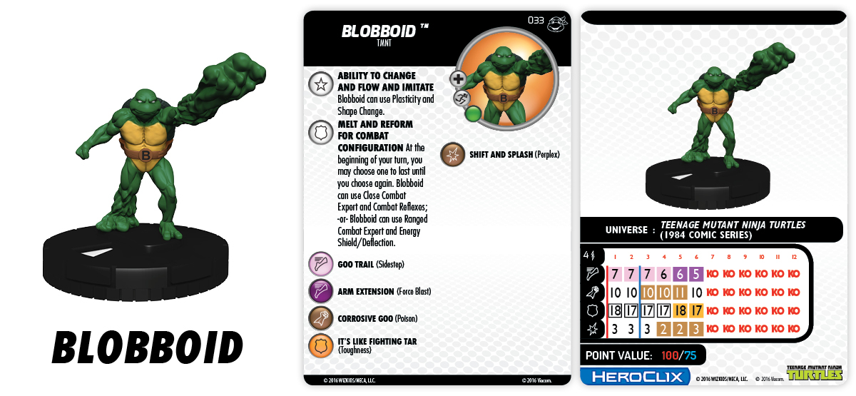 TMNT HeroClix: Heroes in a Half Shell- Blobboid