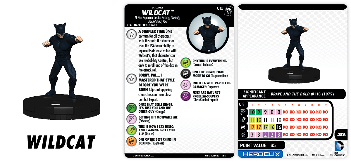DC HeroClix Justice League & Justice Society Thanksgiving - Wildcat