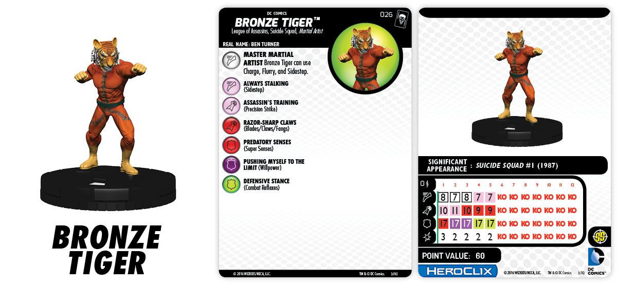 DC HeroClix: The Joker's Wild! - Suicide Squad - Bronze Tiger